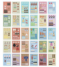 30pcs/Box Travel Postcard Cartoon Cultural and Customs Posters Wall Decor 14x9cm