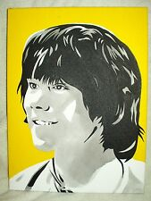 Canvas Painting Matthew Waterhouse Yellow B&W Art 16x12 inch Acrylic