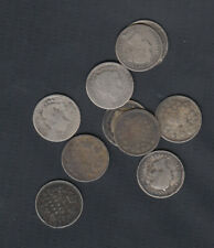 1858-1901 CANADA 5 CENTS SILVER COINS - LOT OF 10