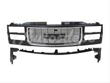 For 1994-2002 GMC C/K Pickup Yukon Front Bumper Filler Grille Chr/blk 4Pcs