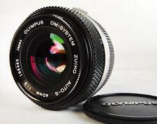 Olympus Zuiko 40mm f/2 MF Lens
