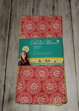 "New The Pioneer Woman Hyacinth 8 Napkins (2 sets of 4) 18""x 18"" Free Shipping"