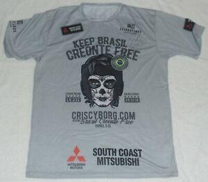 CRIS CYBORG SIGNED AUTO'D WALKOUT SHIRT BAS COA UFC 232 MMA BELLATOR CHUTE BOX