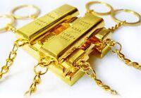 Lingots d'or Doré lingots Porte-clefs Porte-clé Pendentif Pendentif de sacs NEUF