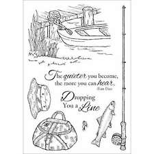 "Inky Antics Clear Stamp Set 4""X6"" Fishing Favorites 499992984748"
