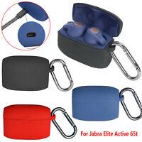 Pour Jabra Elite Active 65t Silicone Pochette Etui Housses Protection + Hook Set
