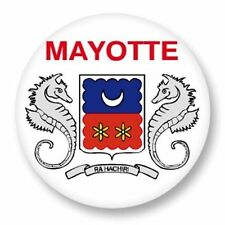 Magnet Aimant Frigo Ø38mm Drapeau Flag Région Mayotte Mahorais