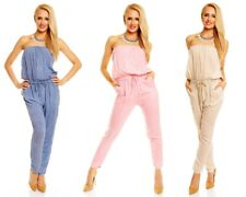 Italy Batik Bandeau Overall lang Jumpsuit Catsuit Onepiece Baumwolle 9021