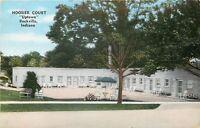 Rockville Indiana~Hoosier Court~Uptown~Roadside Motel~1950s Postcard