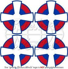 """SERBIA Serbian AirForce Aircraft Roundel 50mm (2"""") Vinyl Stickers Decals  x4"""
