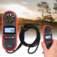 Digital LCD Anemometer +Thermometer Handheld Wind Speed Meter Gauge Air Velocity