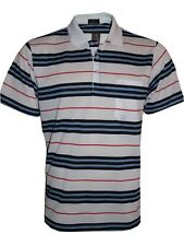 Men's Striped T-shirts Loose Fit Pique Polo Polycotton 1904 Casual Tops M to 5xl White 4xl