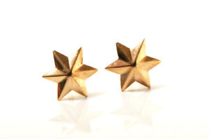 9ct Gold Small (childs) Star Stud earrings Gift Boxed Made in UK Birthday Gift