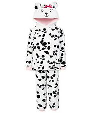John Lewis Children's Fleece 2 Piece Dalmatian Pyjamas- white/Black BNWT 7yrs
