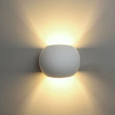 Applique da parete gesso tondo doppia emissione g9 verniciabile lampada ip20 E07