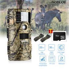 Boblov Ct006 Hunting Trail Camera Full HD 20mp Waterpoof Wildlife 16gb W/belts