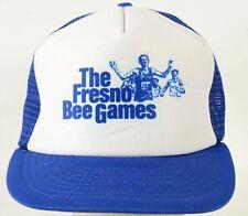 The Fresno Bee Games Blue Vintage Trucker Mesh Baseball Hat Cap Adjustable