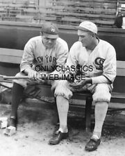 1920 Babe Ruth & Shoeless Joe Jackson Baseball Bat 8x10 Photo Yankee Black Sox