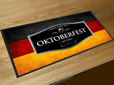 Oktoberfest Bandera Alemana negro etiqueta de cerveza toalla de Bar Bar mat