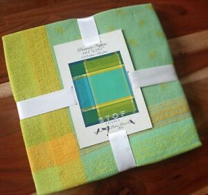 Stof France Laura Lancelle Provence Set of 4 Napkins Beautiful Green & Yellow