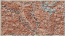 MONTE DI SOBRIO LEVENTINA BLENIO TICINO. San Bernardino Olivone Faido 1911 map