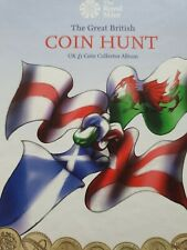 More details for complete set £1 coin hunt album old round one pound great british coin hunt