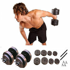 Gold's Gym Vinyl Dumbbell Set 40 lbs Exercise Fitness Workout Gym Equipment