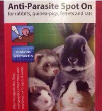 4 X Flea Tick Lice Mange Mite Roundworm Anti-parasite Rabbit Guinea Pig Rat