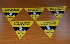 Vintage B & O Railroad OTTO NOBETTER Safety Stickers Lot of 5
