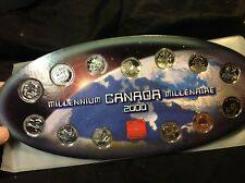 Canada 2000 Millennium Quarter Set UNC. - Complete In Case -12 Coins + Medallion
