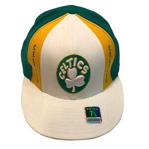 Boston Celtics NBA Reebok Hardwood Classics Retro 7 3/4 Fitted Cap Hat $25