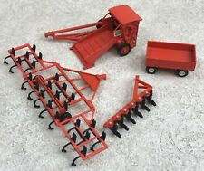 Ertl Farm Equipment Lot of 4 Allis-Chalmers Roto-Baler Red Die-Cast Accessories