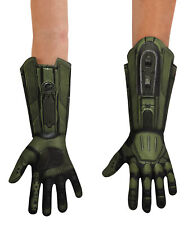 Official Deluxe Kids Halo Master Chief Gloves Fancy Dress  Costume Accessory O/S