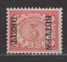 Nederlands Indie Netherlands Indies 86f MLH BUITEN BEZIT kopstaand 1908