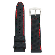 18mm 20mm 22mm 24mm Mens Silicone Watch Band Sport Diver Waterproof Rubber Strap