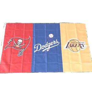 Tampa Bay Buccaneers LA Lakers Dodgers Flag Banner 3x5 Ft Sports NFL NBA MLB