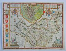 Cheshire: antique map by John Speed, 1662-65