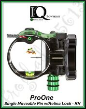 IQ Pro One Single Pin Bow Sight with Retina Lock - Right Hand