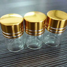 10x 5ml 2x3cm Travel Small Screw Cap Empty Clear Glass Bottles Container Beamy