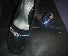 Nine West Negro Tribunal Zapatos De Gamuza Nuevo UK8-8.5 US11M
