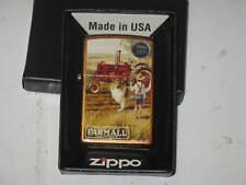 IH ZIPPO USA Windproof LIGHTER FARM TRACTOR FARMALL J I CASE IH Boy & Dog Collie