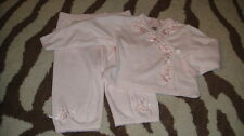 NEW NWOT BABY BISCOTTI 9M 9 MONTHS PINK FLORAL OUTFIT
