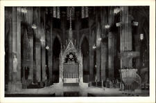 New York postcard ~1950/60 Sanctuary of St. Patrick's Cathedral Church Kirche