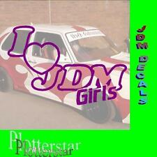 I LOVE JDM Girls JDM sticker autocollant OEM ps power Fun like shocker