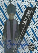 "Star Wars High Tek: Blue SW-23 Silas Carson ""Lott Dod"" Autograph Card #23/75"
