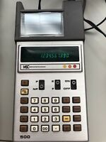 NSC NATIONAL SEMICONDUCTOR MODEL 500 DIGITAL CALCULATOR W/ POWER SUPPLY - JAPAN