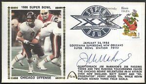 Jim McMahon Autographed Super Bowl 20 Gateway Stamp Cachet Envelope XX Postmark
