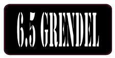 BLACK / WHITE 6.5 GRENDEL AMMO CAN LABELS SET OF 4