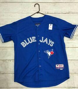 Size:48 Blue Jays Button Up Jersey By Majestic