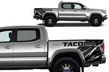 Vinyl Graphics Decal Wrap Kit for 2016-17 Toyota Tacoma Rear Quarter MATTE BLACK